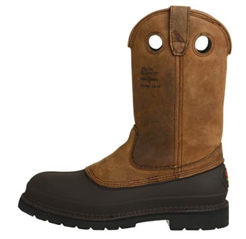 GEORGIA BOOT MUDDOG WELLINGTON WORK BOOT is crafted by SPR leather