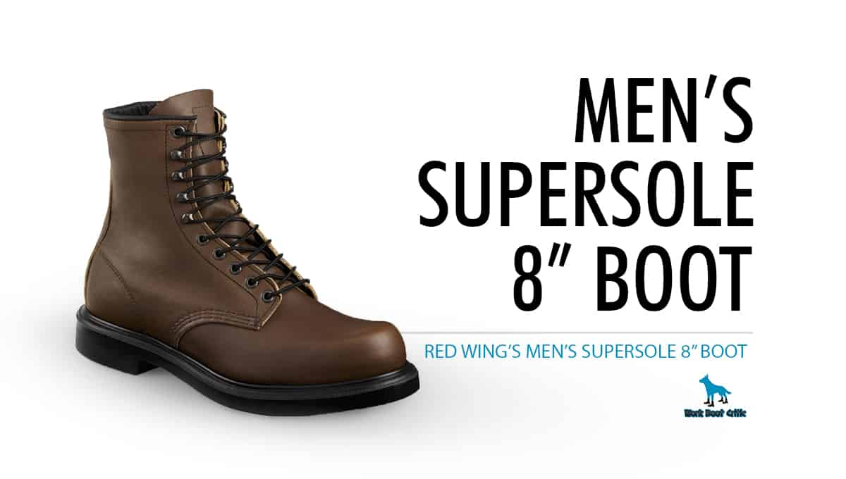 """Red Wing's Men's SuperSole 8"""" Boot"""