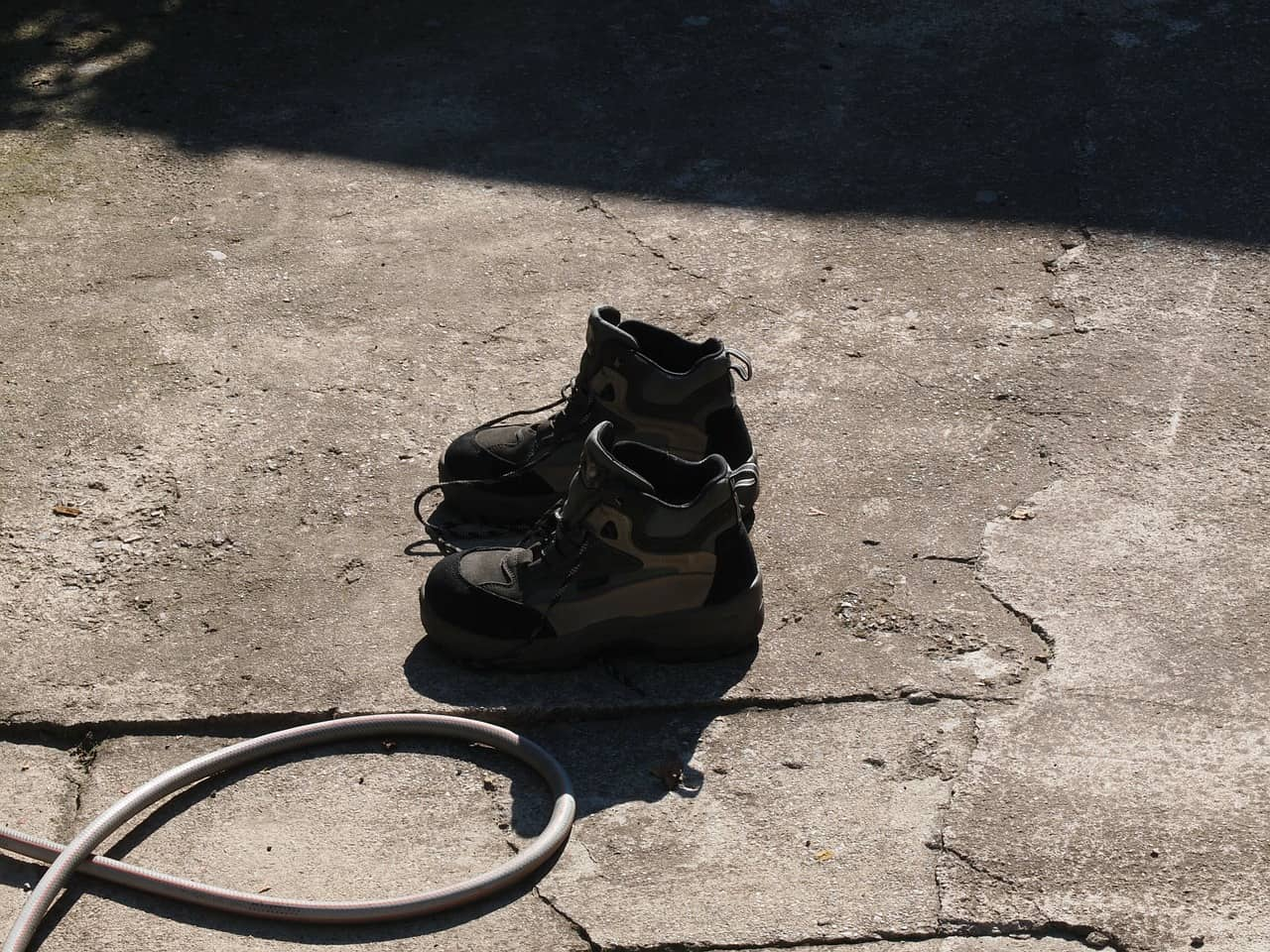a pair of work boots