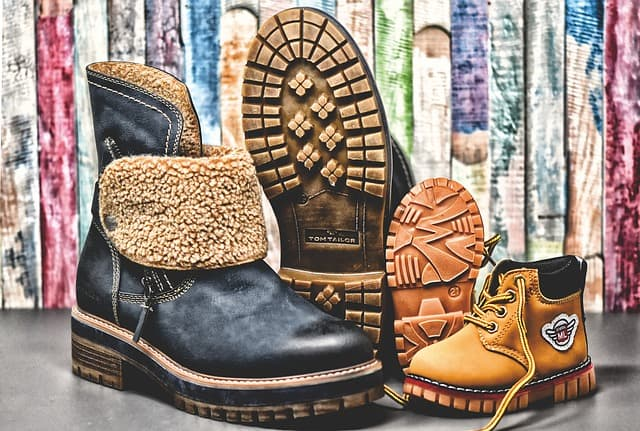 several winter boots